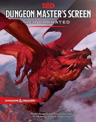 DUNGEONS AND DRAGONS DUNGEON MASTER'S SCREEN REINCARNATED