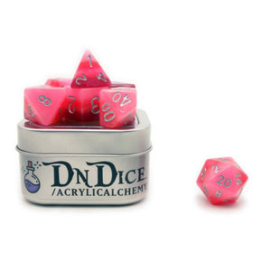DNDICE STRATUM STRIKER RUBY ROYALE DICE SET
