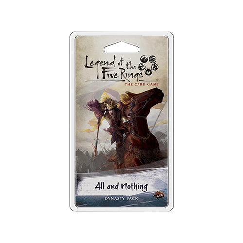 LEGEND OF THE FIVE RINGS CARD GAME ALL AND NOTHING EXPANSION