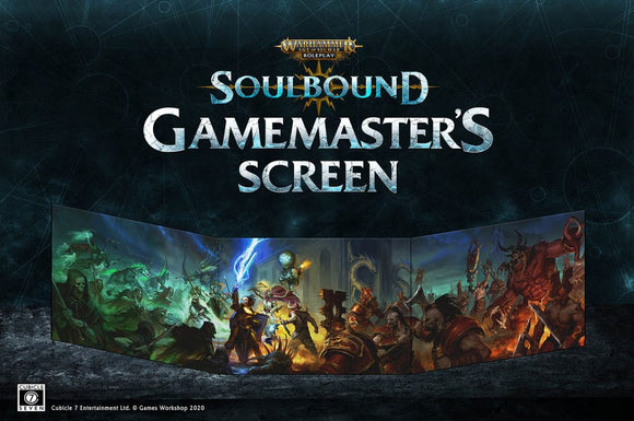 WARHAMMER AGE OF SIGMAR SOULBOUND RPG GAME MASTER'S SCREEN