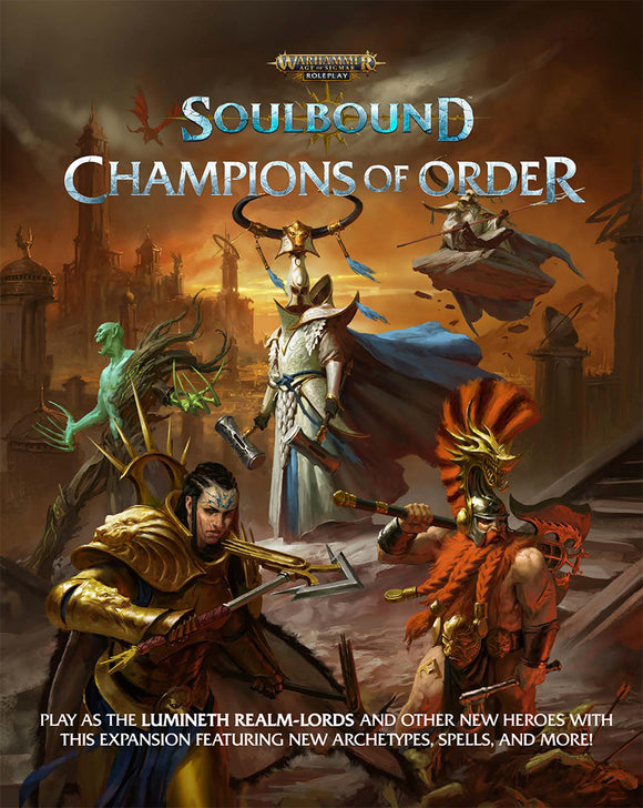 WARHAMMER AGE OF SIGMAR SOULBOUND RPG CHAMPIONS OF ORDER PRE ORDER MAY 2021