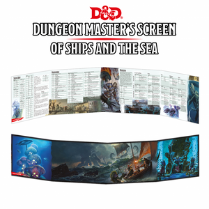 DUNGEONS AND DRAGONS DUNGEON MASTERS SCREEN OF SHIPS AND THE SEA