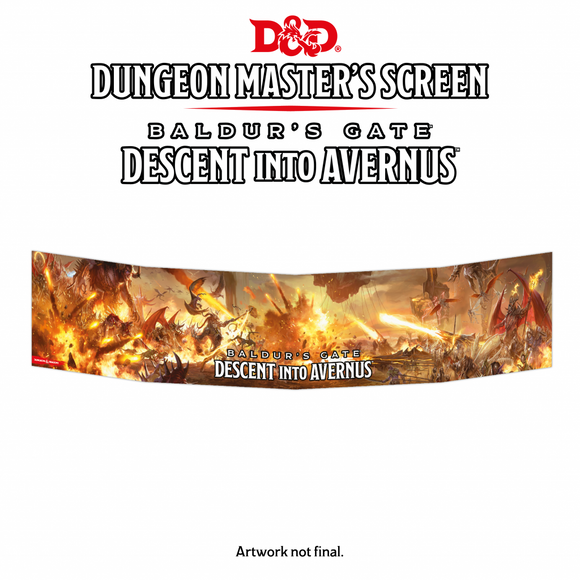 DUNGEONS AND DRAGONS DUNGEON MASTERS SCREEN DESCENT INTO AVERNUS PRE ORDER SEPTEMBER 2019