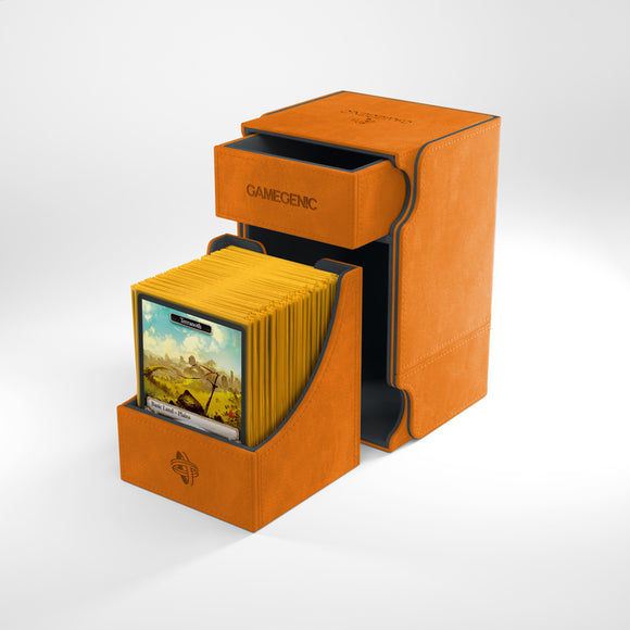 GAMEGENIC WATCHTOWER 100+ CONVERTIBLE PREMIUM DECK BOX ORANGE
