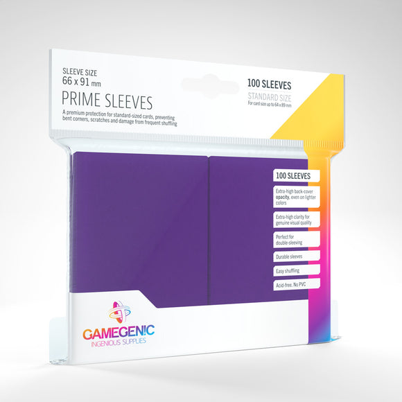 GAMEGENIC PRIME SLEEVES 100 PACK PURPLE