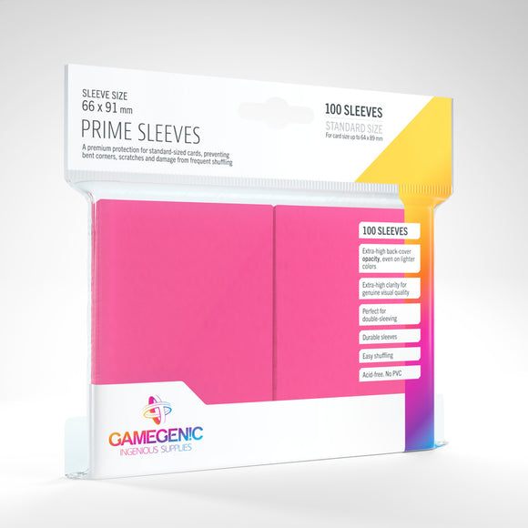 GAMEGENIC PRIME SLEEVES 100 PACK PINK