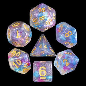 DNDICE GALAXY STORM BLUE PINK DICE SET