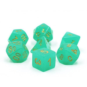 Copy of DNDICE MOON STONE MINTY MANTIS DICE SET