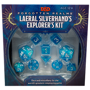 DUNGEONS AND DRAGONS LAERAL SILVERHAND'S EXPLORER'S KIT FORGOTTEN REALMS PRE ORDER APRIL 2020