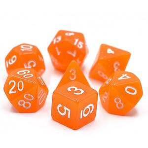 DNDICE MOON STONE SPICED ORANGE DICE SET