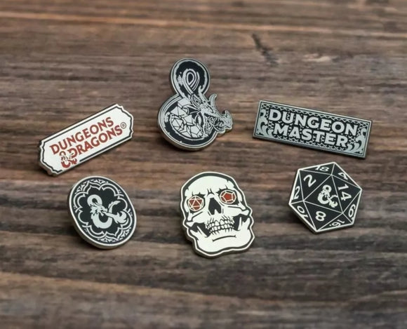DUNGEONS AND DRAGONS OFFICIAL PINS