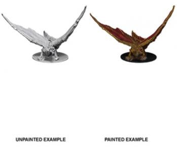 DUNGEONS AND DRAGONS NOLZUR'S MARVELOUS MINIATURES YOUNG BRASS DRAGON