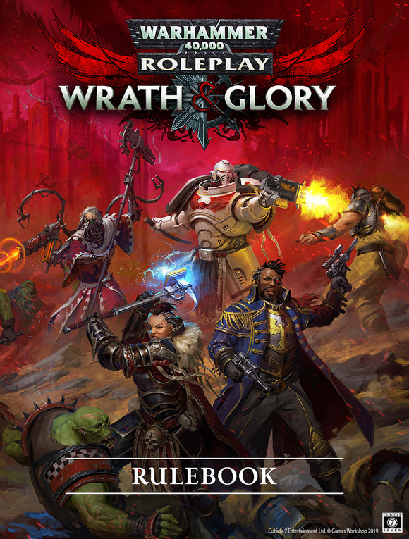 WRATH AND GLORY CORE RULEBOOK HARDCOVER WARHAMMER 40000 RPG REVISED EDITION PRE ORDER FEBRUARY 2020