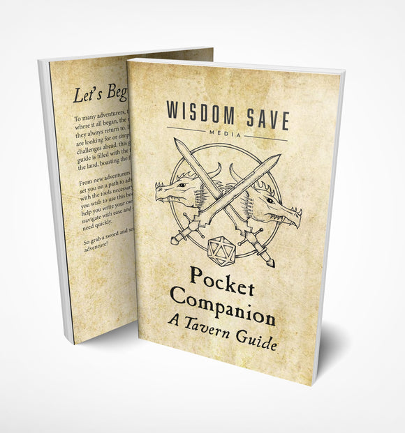 POCKET COMPANION A TAVERN GUIDE