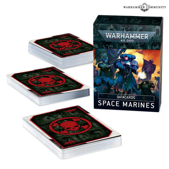 WARHAMMER 40K 40,000 9TH EDITION DATA CARDS SPACE MARINES