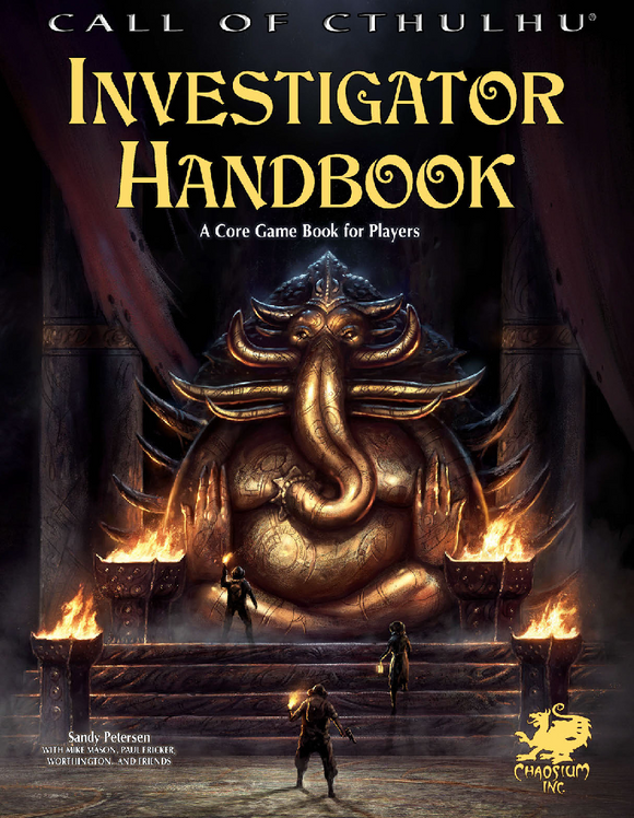 CALL OF CTHULHU 7TH EDITION INVESTIGATORS HANDBOOK