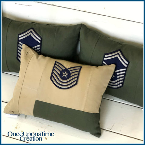 Army Uniform Keepsake Memory Pillows