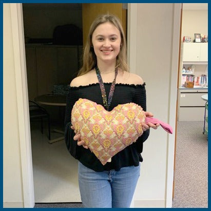 Creating Heart Pillows for the Girl Scout Gold Award by Katie Ridder