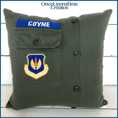 Army Uniform Keepsake Pillow by Once Upon a Time Creation
