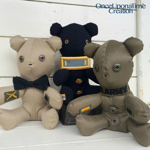 Army Uniform Memory Bears by Once Upon a Time Creation