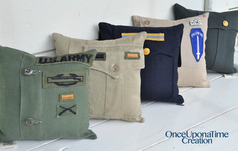 Army Uniform Keepsake Pillows by Once Upon a Time Creation