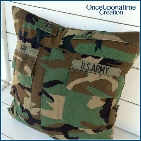 Army Uniform Memory Pillow by Once Upon a Time Creation