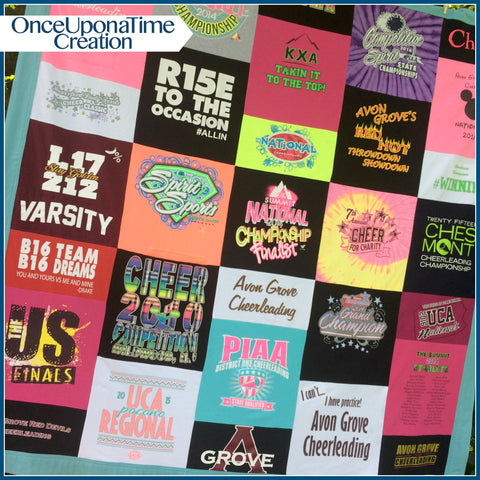 Cheer T-shirt Memory Blanket by Once Upon a Time Creation
