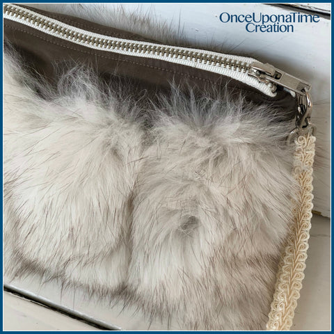 Custom Keepsake clutch made from a fur coat by Once Upon a Time Creation