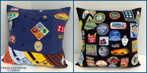 Cub Boy Scout Memory Pillow by Once Upon a Time Creation