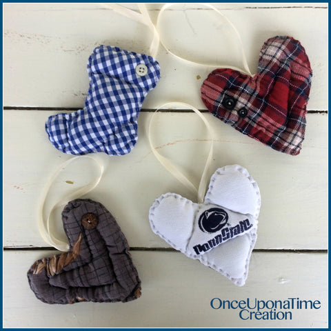Custom Keepsake Ornaments from Clothing by Once Upon a Time Creation