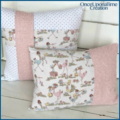 Pillows made from baby bedding by Once Upon a Time Creation