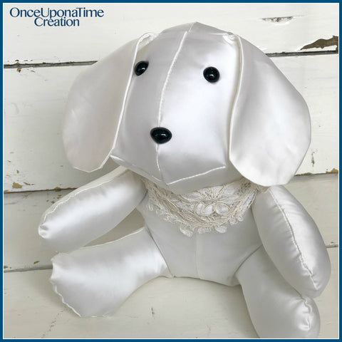 Dog made from a wedding dress clothing by Once Upon a Time Creation