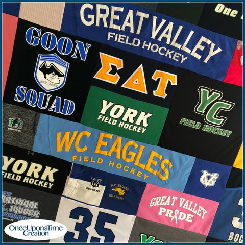 Field Hockey T-Shirt Memory Blanket by Once Upon a Time Creation