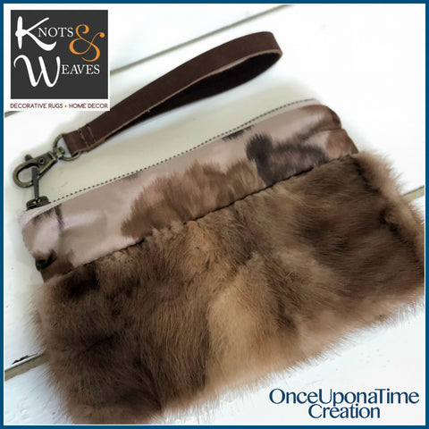 Vintage Fur and Rug Bag by Knots and Weaves and Once Upon a Time Creation