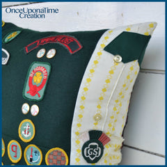 Girl Scout Keepsake Pillow made from uniforms by Once Upon a Time Creation