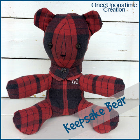Keepsake Bear made from a shirt by Once Upon a Time Creation