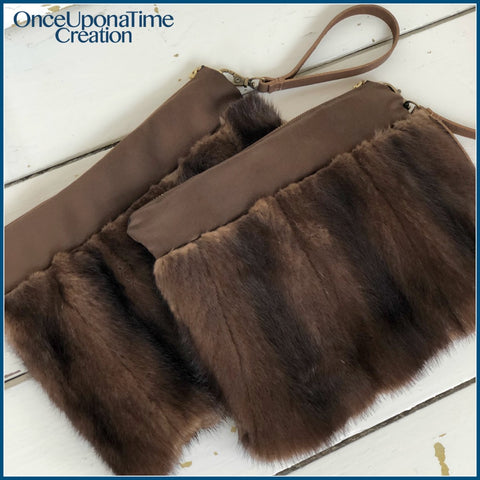 Keepsake clutches made from a fur coat by Once Upon a Time Creation