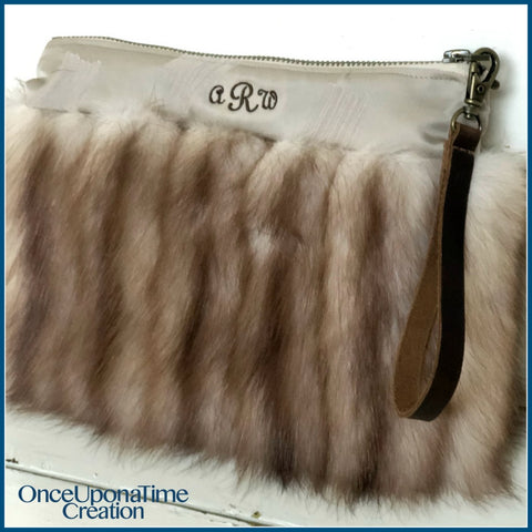 Clutch bag made from a fur coat by Once Upon a Time Creation
