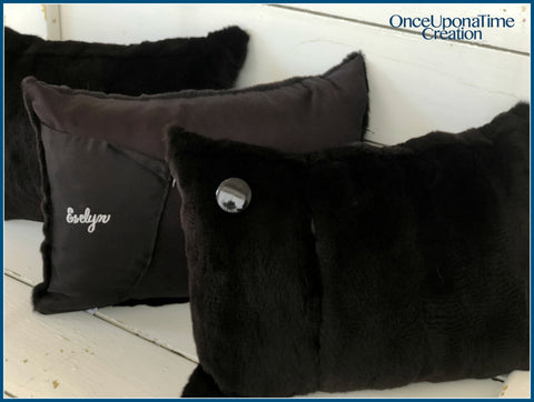 Pillows made from a fur coat by Once Upon a Time Creation