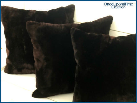 Pillow made from a fur coat by Once Upon a Time Creation