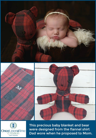 Keepsake Bear made from clothing by Once Upon a Time Creation