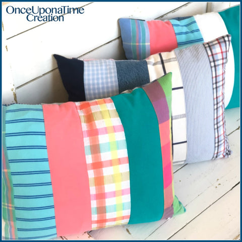 Keepsake pillows made from clothing by Once Upon a Time Creation