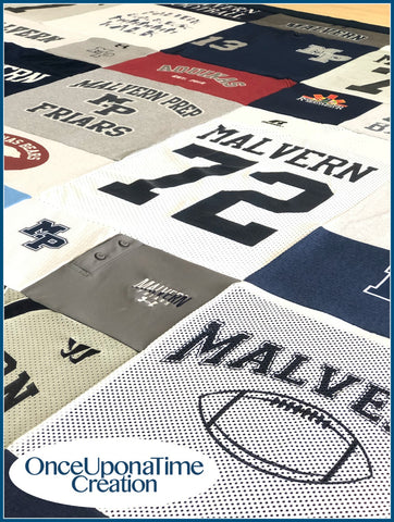 Memory Blanket with Football Jerseys by Once Upon a Time Creation