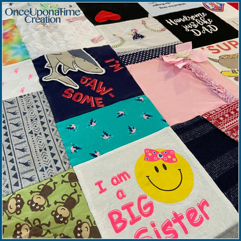 Memory Blanket made from Baby Clothes by Once Upon a Time Creation