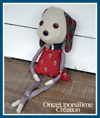 Keepsake Puppy Lovey made from shirts and ties by Once Upon a Time Creation