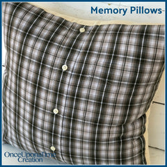 Remembrance Keepsake Pillow made from a shirt by Once Upon a Time Creation