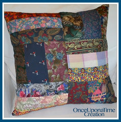Keepsake Pillow made from ties by Once Upon a Time Creation