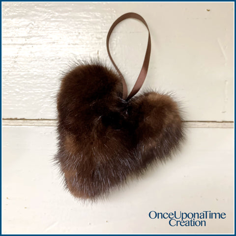 Once Upon a Time Creation Keepsake Ornaments made from a Fur Coat