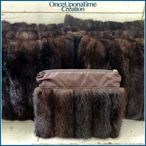 Once Upon a Time Creation Keepsake Pillows and Clutch Bag made from a Fur Coat