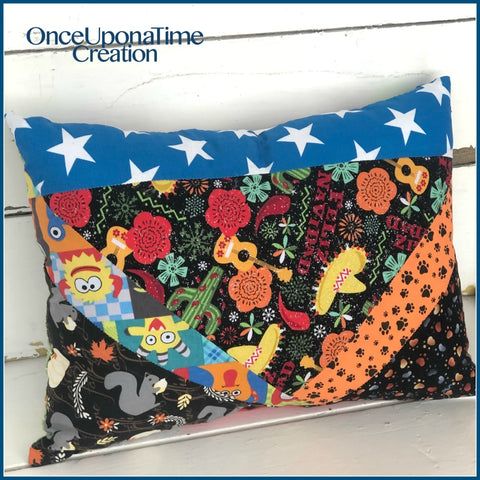 Pet Dog Remembrance Pillow made from bandanas by Once Upon a Time Creation